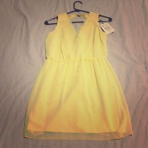 Yellow Zara Woman Party Dress